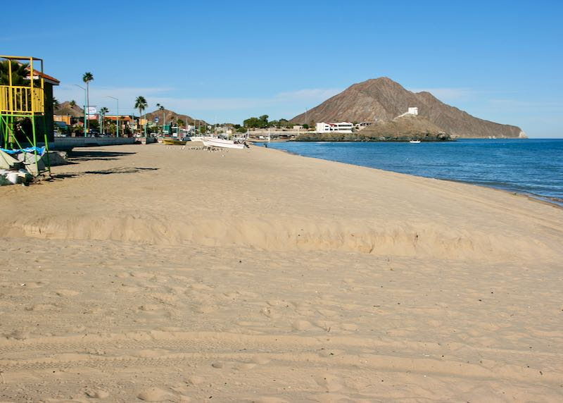 Good beach in Baja, Mexico.