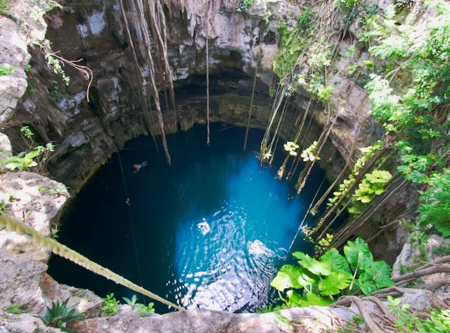 Cenote Tour from Cancun in the Yucatan.