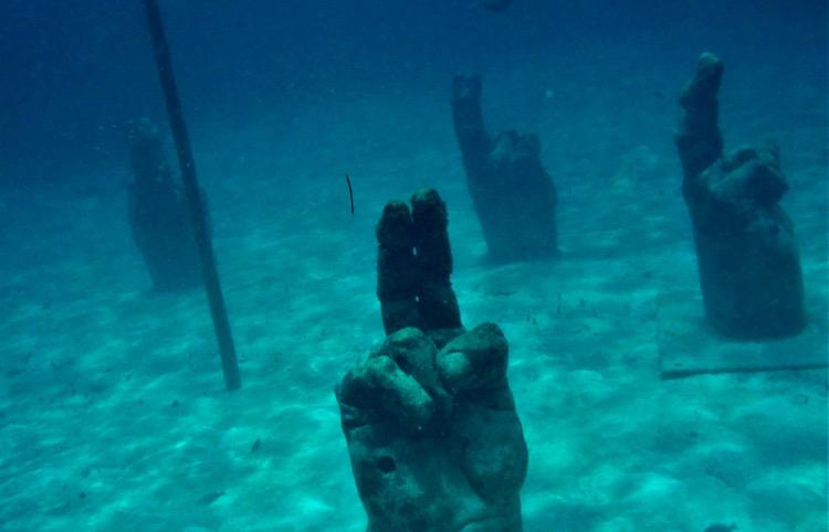 Cancun underwater snorkel museum