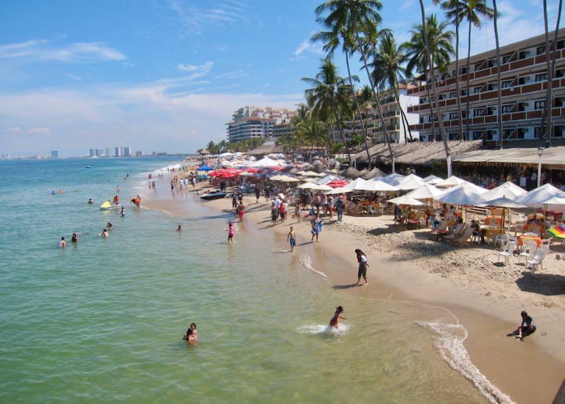 Best beach in Puerto Vallarta, Mexico.