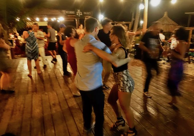 Sunday salsa night at La Zebra Hotel in Tulum