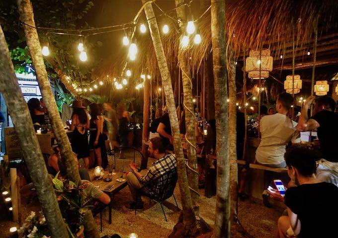 The cozy jungle bar at Mur Mur in Tulum