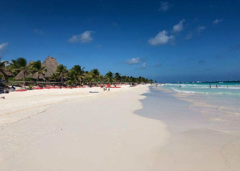 Best beach in Mexico, Tulum.