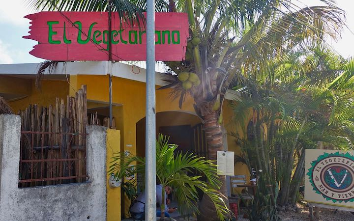 Outside El Vegetariano in Tulum