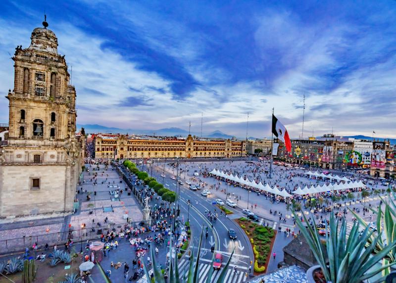 Mexico City zocalo plaza