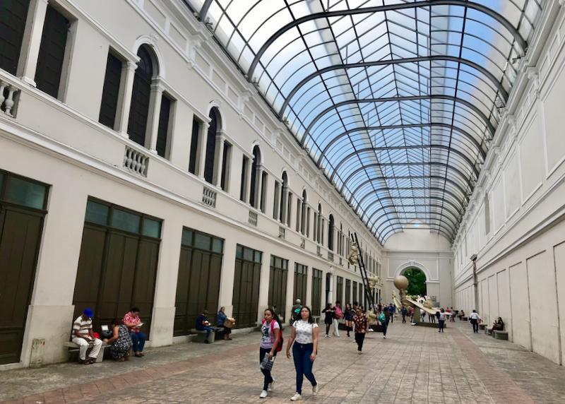 museum interior courtyard