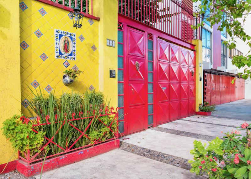 Coyoacan Neighborhood gates and doors