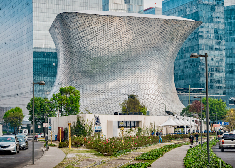 Museo Soumaya in the Polanco neighborhood