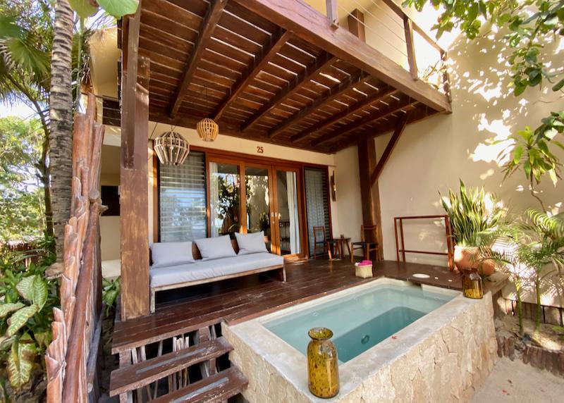 splash pool and patio