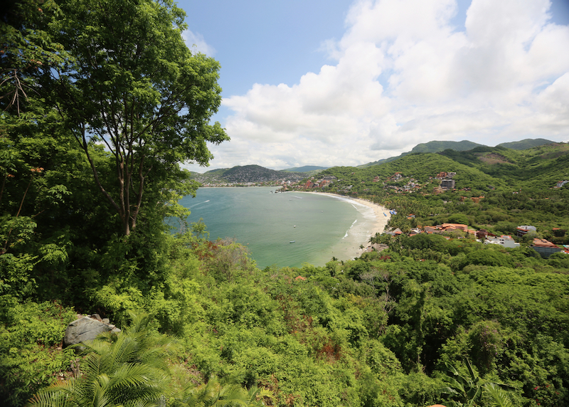 Zihuatanejo beach bay